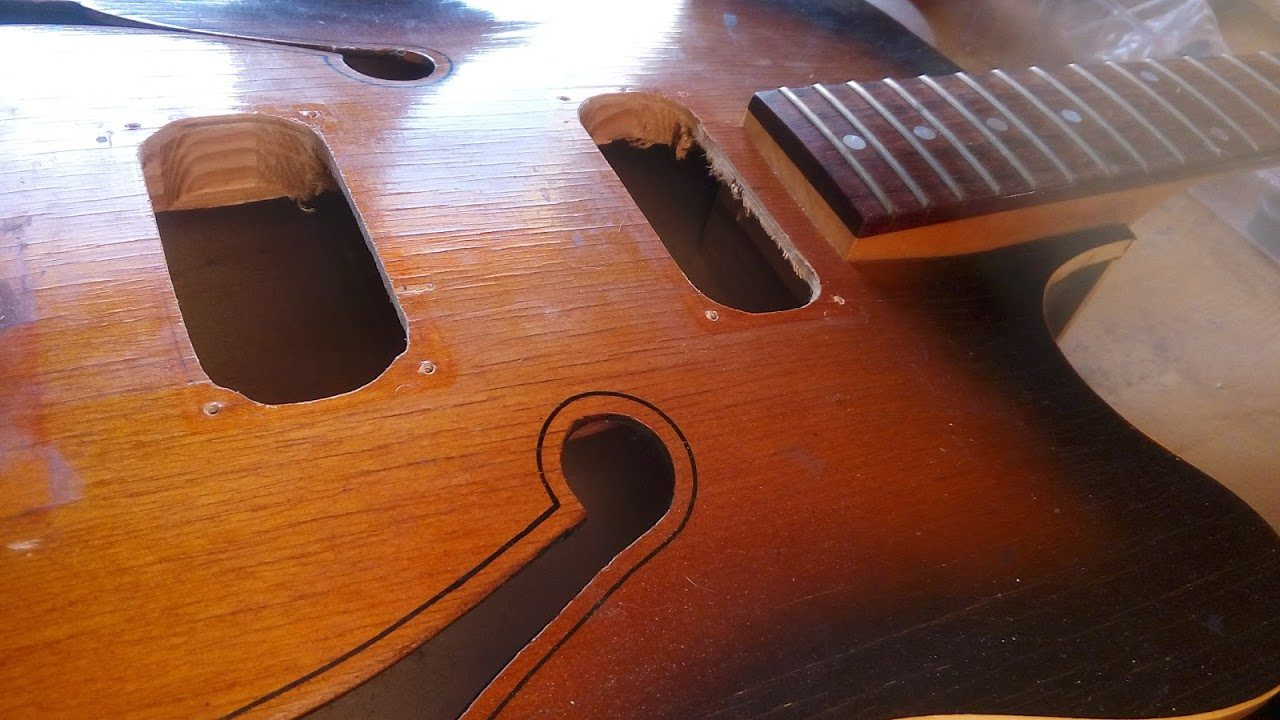 Vintage Defil Jazz Guitar Makeover